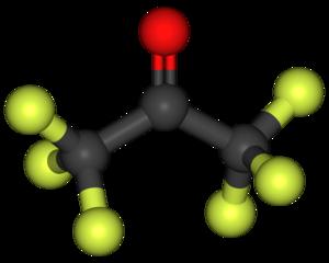 Hexafluoroacetone - Image: Hexafluoroacetone 3D