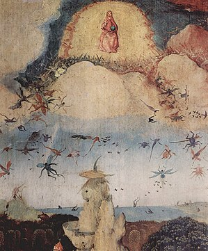 War in Heaven - The Fall of the Rebel Angels; right hand panel of Hieronymus Bosch's The Haywain Triptych, c. 1500