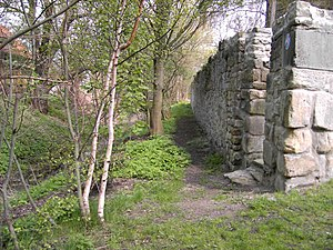 Steuerwald Castle, Hildesheim - Moat and old wall.