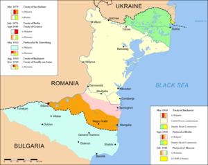 Map of Dobruja