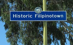 Historic Filipinotown signage located at Beverly Boulevard and Belmont Avenue