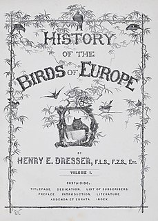<i>A History of the Birds of Europe</i> Nine-volume, late 19th century book about the history of European birds
