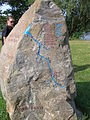 Hochwasser-Gedenkstein bei Aken, Mittlere Elbe im Landkreis Anhalt Bitterfeld.JPG