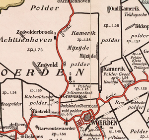 's-Gravesloot - 's-Gravesloot on a map from 1901