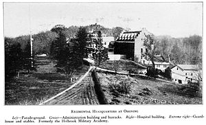 History of Briarcliff Manor - The former Holbrook Military Academy as the First Provisional Regiment headquarters
