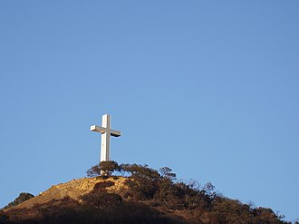 Hollywood Cross - Image: Hollywood Pilgrimage Memorial Monument from Cahuenga Pass 2016 09 18