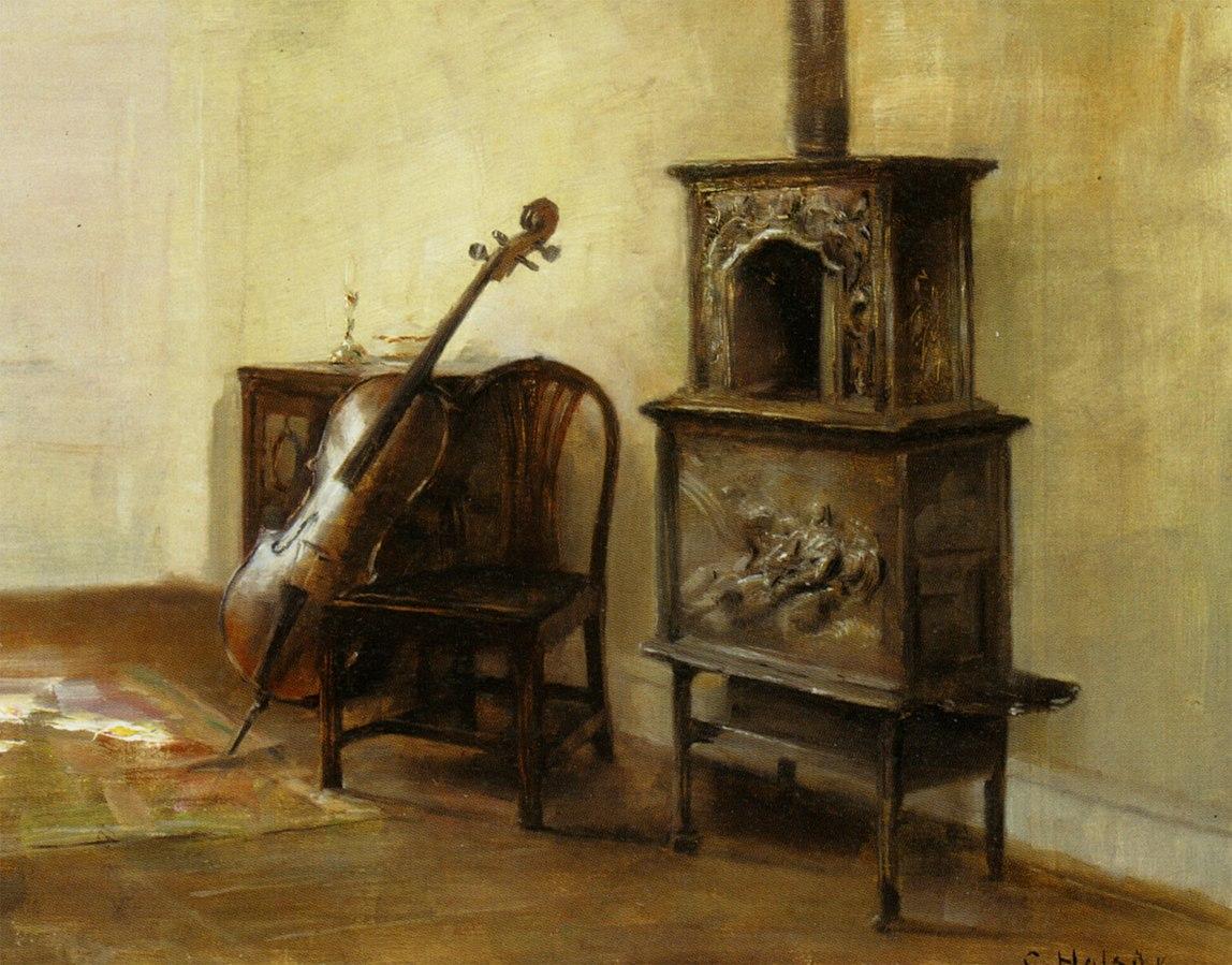 Interieur with a Cello