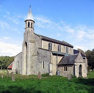 Great Hockham village in United Kingdom