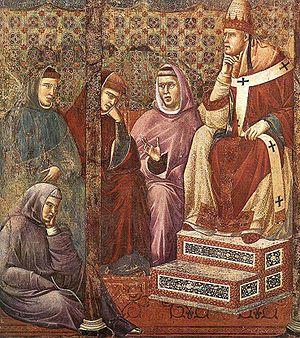 Cardinal Cencius (future Pope Honorius III), t...