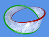 Red and green Hopf band (annulus)
