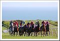 Horse racing across the downs at Brighton racecourse.JPG
