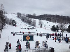 The ski hill at Horseshoe Resort in Ontario