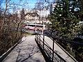 Hostibejk, Jarníkovy schody a autobus.jpg
