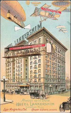 James Boon Lankershim - Hotel Lankershim postcard from 1909