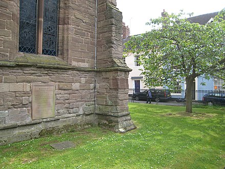 Housman's grave at St Laurence's Church in Ludlow Housman Grave.JPG