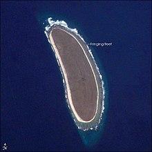 Satellietbeeld van die howland eiland