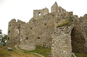 Stephen I Csák - The ruins of Hrussó (Hrušov) Castle