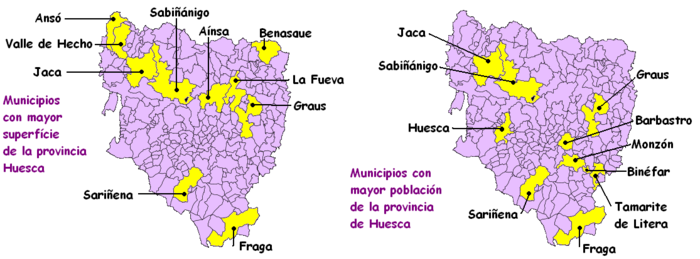 Mapa Provincia De Huesca Pueblos.Provincia De Huesca Wikipedia La Enciclopedia Libre
