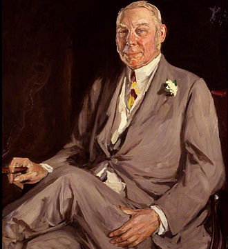 Hugh Lowther, 5th Earl of Lonsdale - Portrait (1930) by Sir John Lavery (1856-1941)