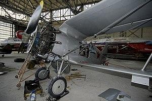 Polikarpov I-153 - A Polikarpov I-153 with the cowling removed.