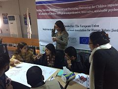 The European Union co-funds psychosocial support by the IAHV, Jordan at the Zaatari refugee camp for the Syrian refugees