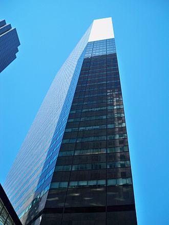 590 Madison Avenue - Side view facing north