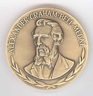 IEEE Alexander Graham Bell Medal - The IEEE Alexander Graham Bell Medal, awarded for meritorious achievements in telecommunications. (Photo courtesy: IEEE)