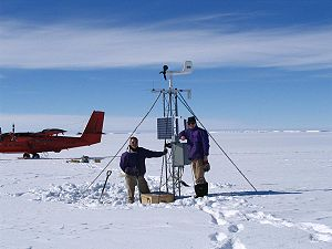 Automatic weather station - An Antarctic Automatic Weather Stations Project AWS in Antarctica