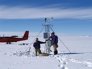 Automatic weather station set of sensors that record and provide physical measurements and meteorological parameters without any human intervention
