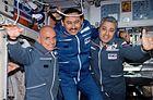 Denis Tito, Talgat Musabayev, and Yury Baturin