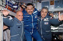 v.l.n.r. Tito, Mussabajew und Baturin