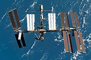 ISS after STS-123 in March 2008 cropped