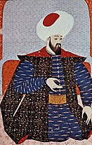 Ottoman miniature painting of Osman I, founder of the Ottoman Empire. Located at Topkapı Sarayı Müzesi, Istanbul.