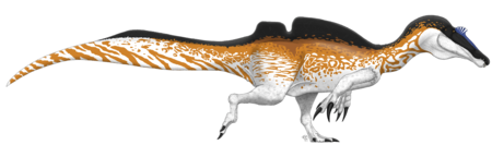 Ichthyovenator laosensis life reconstruction by PaleoGeek (flipped).png