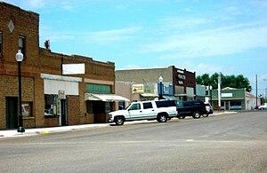 Idalou, Texas - Businesses in downtown Idalou