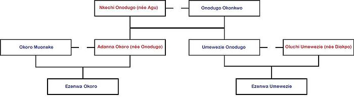 Example of an Igbo family tree explained below.