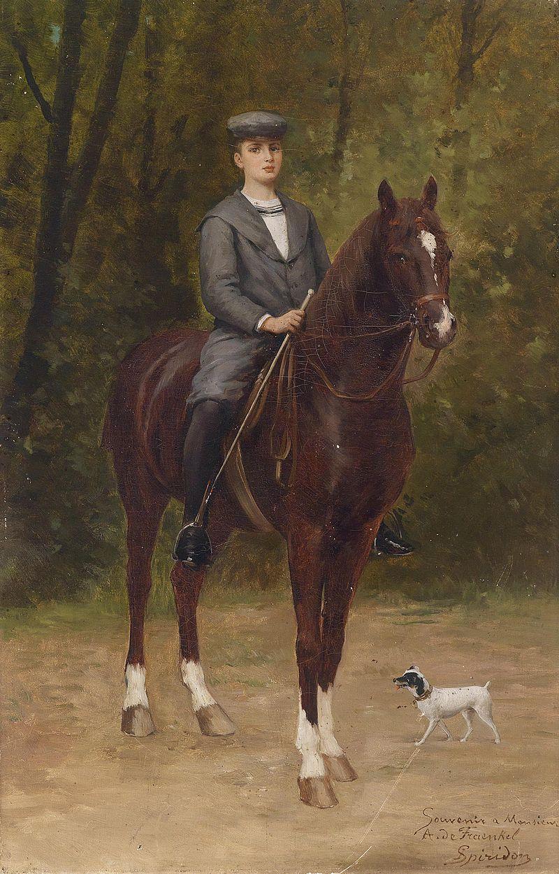 Ignace Spiridon Oskar von Fraenkel zu Pferd c1898.jpg