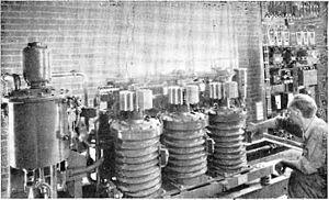 Ignitron - Ignitron rectifiers powering industrial process, 1945