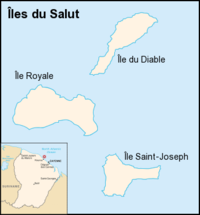 Map showing location in Salvation's Islands group