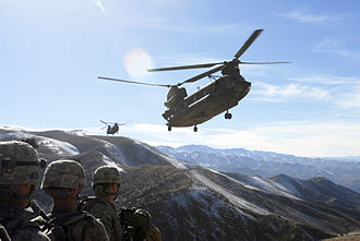 17th Aviation Brigade (United States) - Chinook heavy lift chopper in action