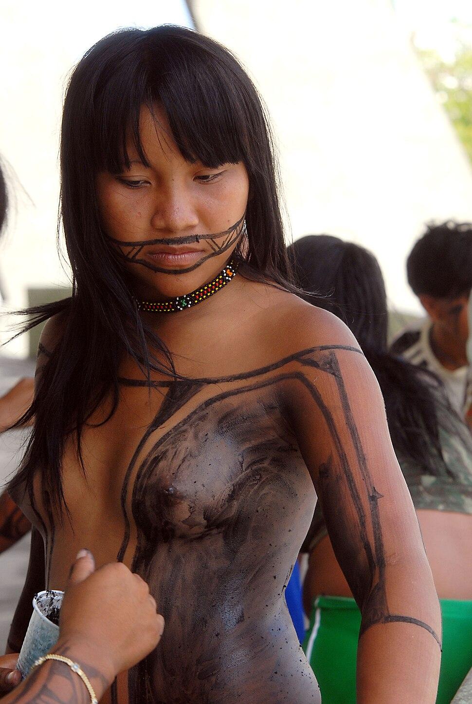 Indígena da etnia Tapirapé