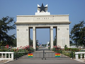 Photo of the Independence Arch in Accra, Ghana...