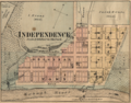 Independence Indiana map from 1877 atlas.png