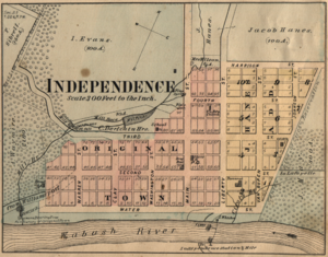 Independence, Indiana - Map from 1877 atlas