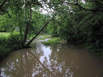 Indian Creek (Middle Island Creek tributary) - Indian Creek in Big Moses