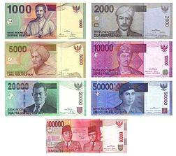Denominasi uang kertas rupiah (yang saat ini beredar)