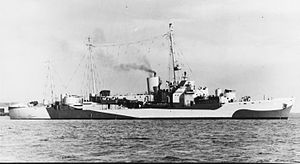USCGC Ingham (WHEC-35) - Ingham at U.S. Navy Yard, S.C., 11 Oct 1944