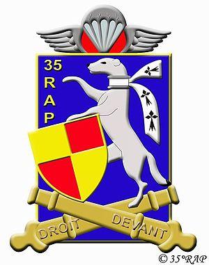 35th Parachute Artillery Regiment - Image: Insigne régimentaire du 35e régiment d'artillerie parachutistes