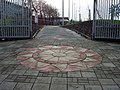 Interesting pavement design at entrance to Crownpoint - geograph.org.uk - 662502.jpg