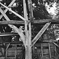 Interieur, schuur (slechte toestand), houtconstructie, gebintbalkschoren, gebinttussenstijl - Vessem - 20001885 - RCE.jpg